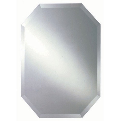 Octagonal 70cm x 50cm Bevel Mirror