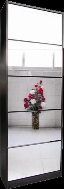 London Shoe Cabinet 5 tier mirror exclusive