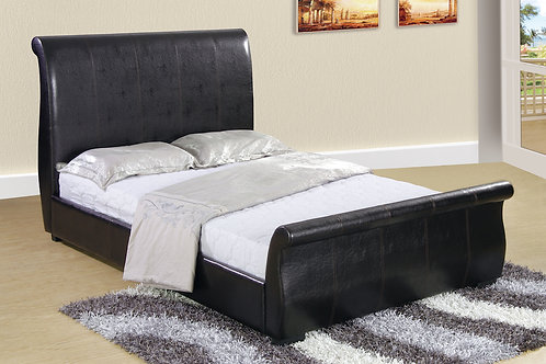 Lyon Upholstered PU Double Bed