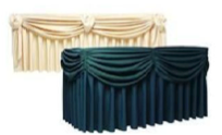Table cover with skirts rectangle