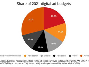 Branded content and influencer marketing make up an increasingly larger share of digital ad budgets