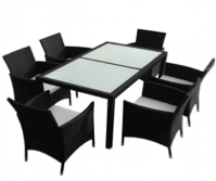 Sunset 7 piece dining table 6+1