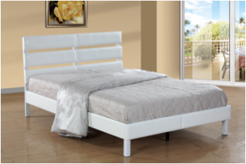Arles Upholstered PU Double Bed