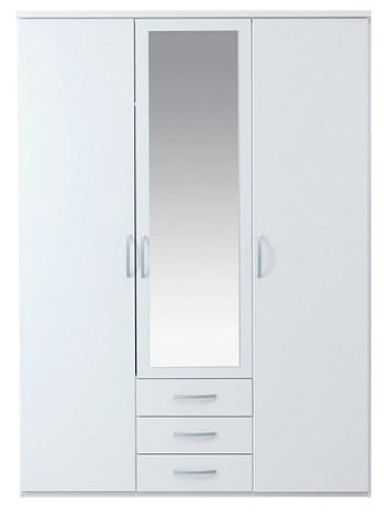 London Mirrored Wardrobe 3 doors 3 drawers