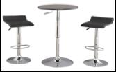 Lore Barstool & Bar Table Set Black
