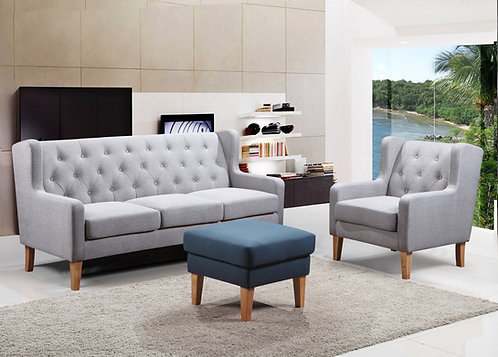 Brook 3S+2S+1S Fabric Sofa, 1 Seater Only