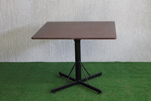 B + C 90cm Square Bar Table, Supawood Top 720 H