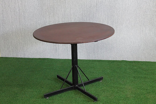 B + C 90cm Round Bar Table, Supawood Top 720 H