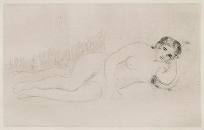Femme nue couchee (Tournee A Droite) 1re Planche
