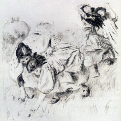 Enfants Jouant a la Balle