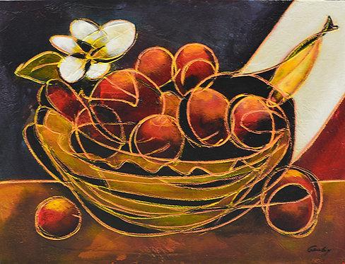 Panier De Fruits et Fleur