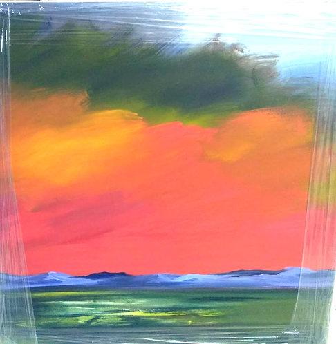 Fire Sky (36 x 36)