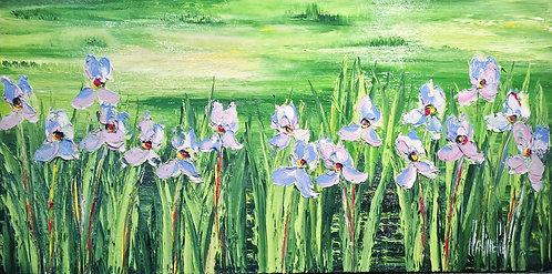 Le Ciel Se Mire Ou Les Fleurs Se Reposent