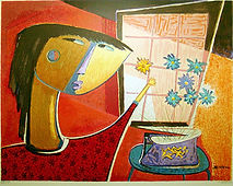 Botello | Girl Arranging Flowers