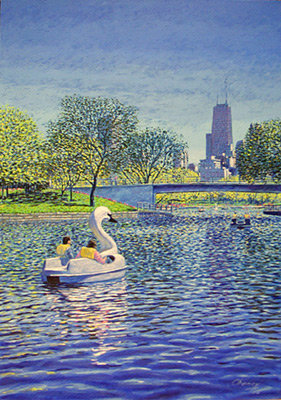 Swan Ride in Lincoln Park