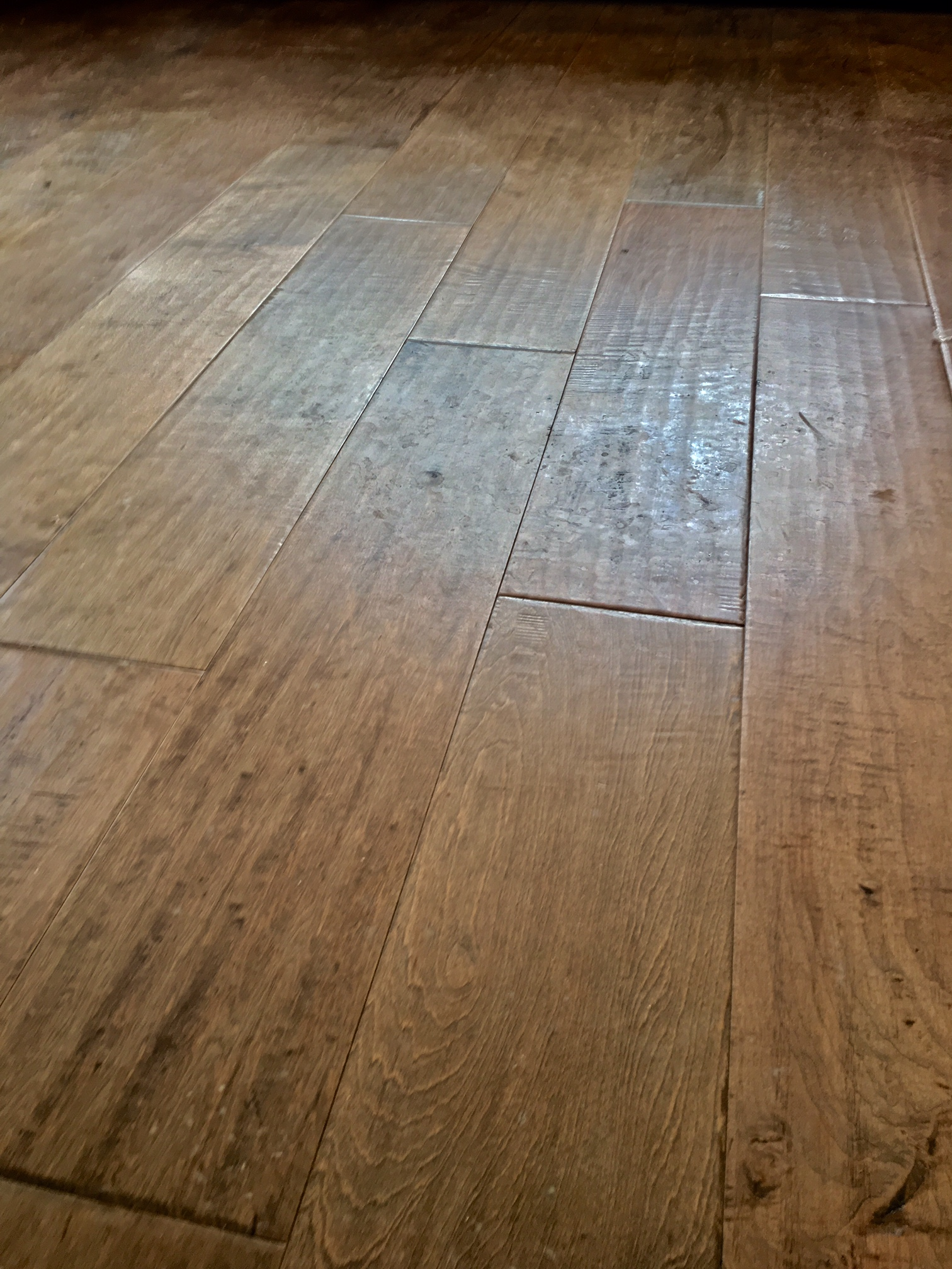 Epic Hand-Scraped Wide-Plank Maple Floors
