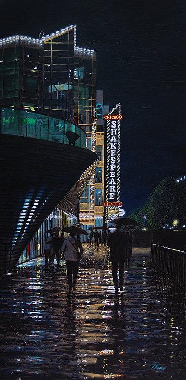 Rainy Evening on Navy Pier