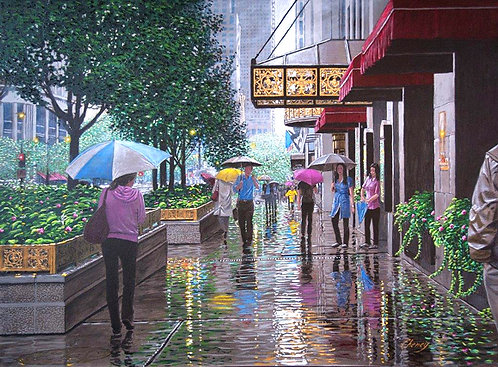Summer Rain on the Avenue