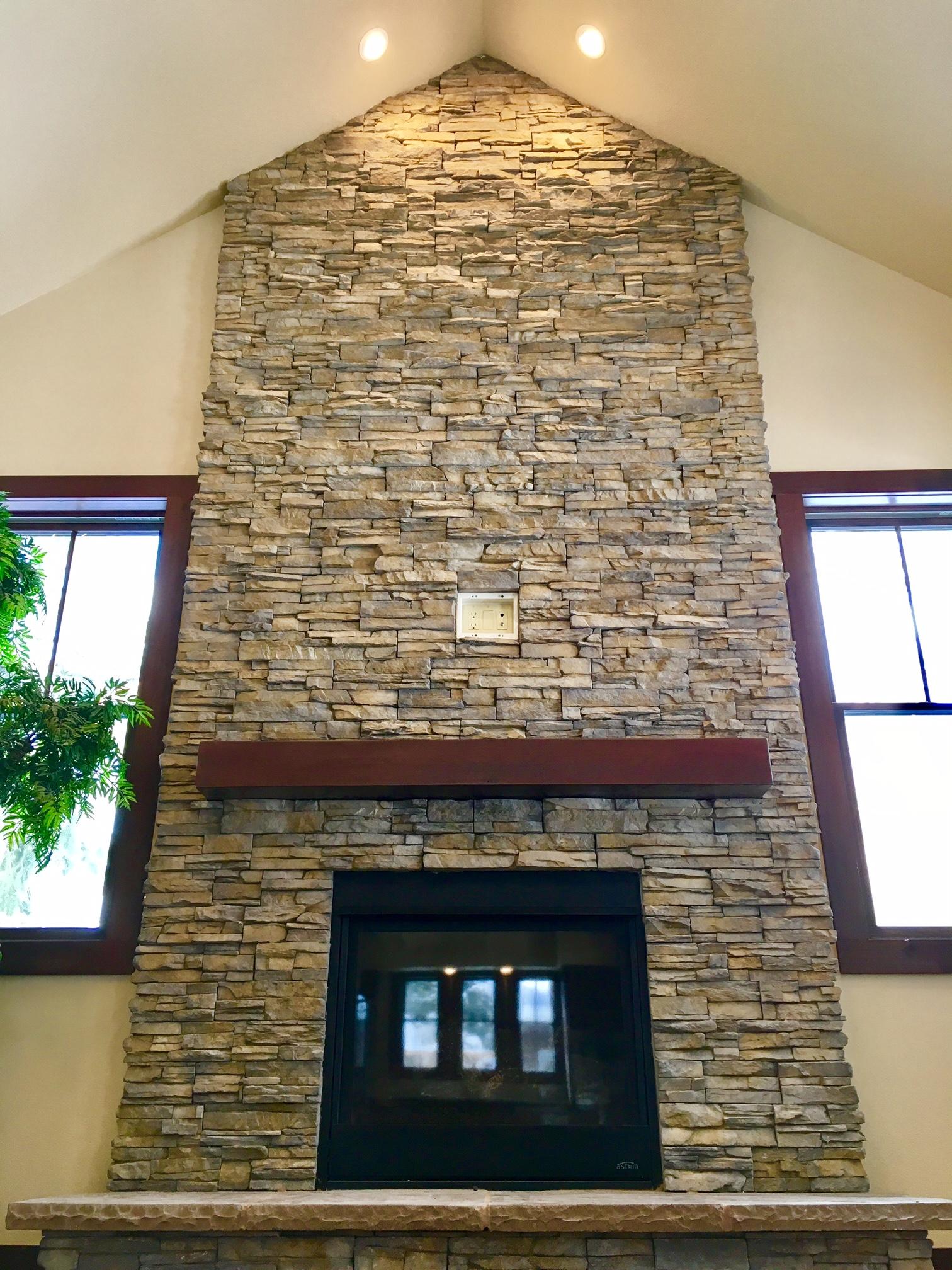Epic Stone Fireplace Wall