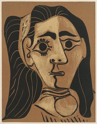Femme au cheveux flous (Jacqueline au Bandeau)