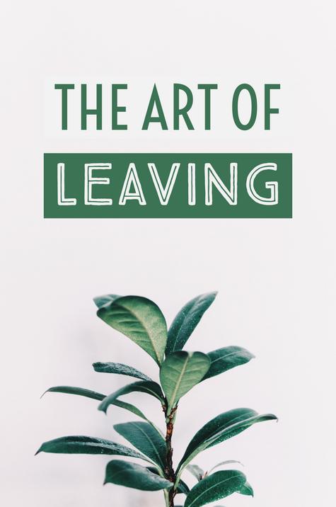 The Art of Leaving (Alternative Cover)