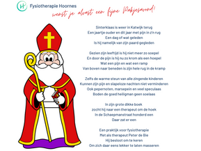 Sinterklaasgedicht van jouw fysio