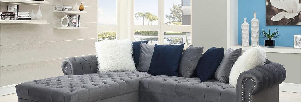 Velvet pillow Top Sectional