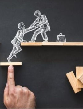 people helping each other get higher