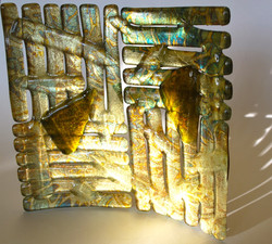 square golden plate