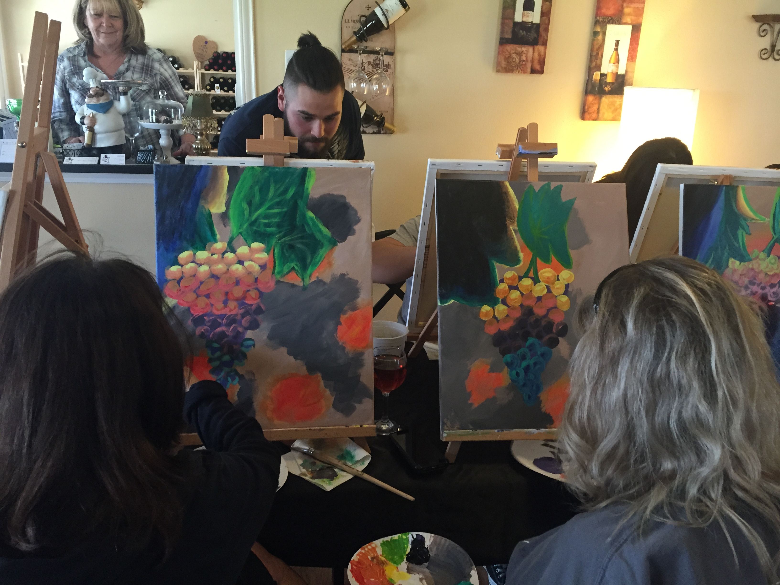 paint and sip @ art by heart studio