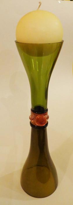 bottle up candle holder