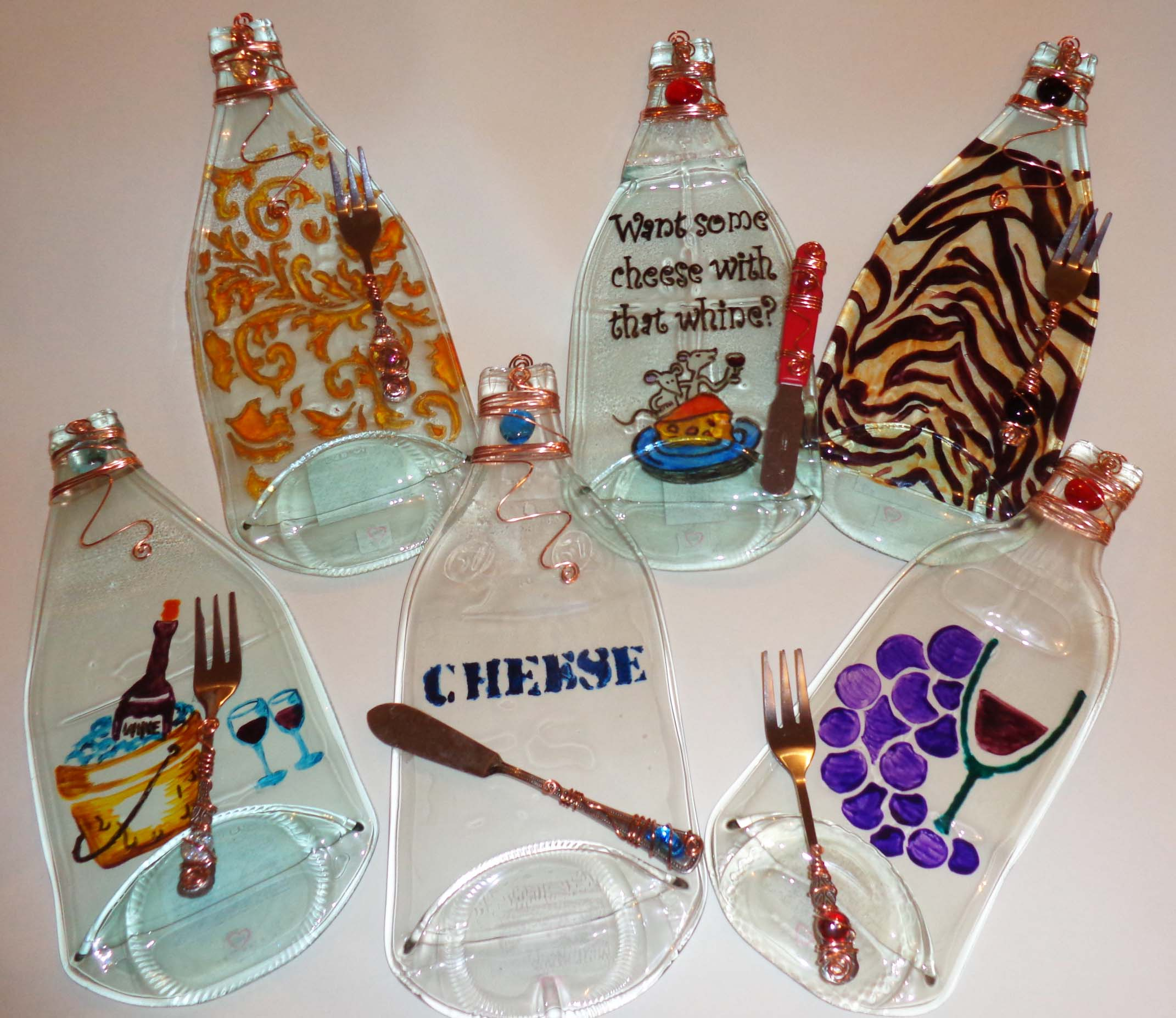 hand painted appetizer trays