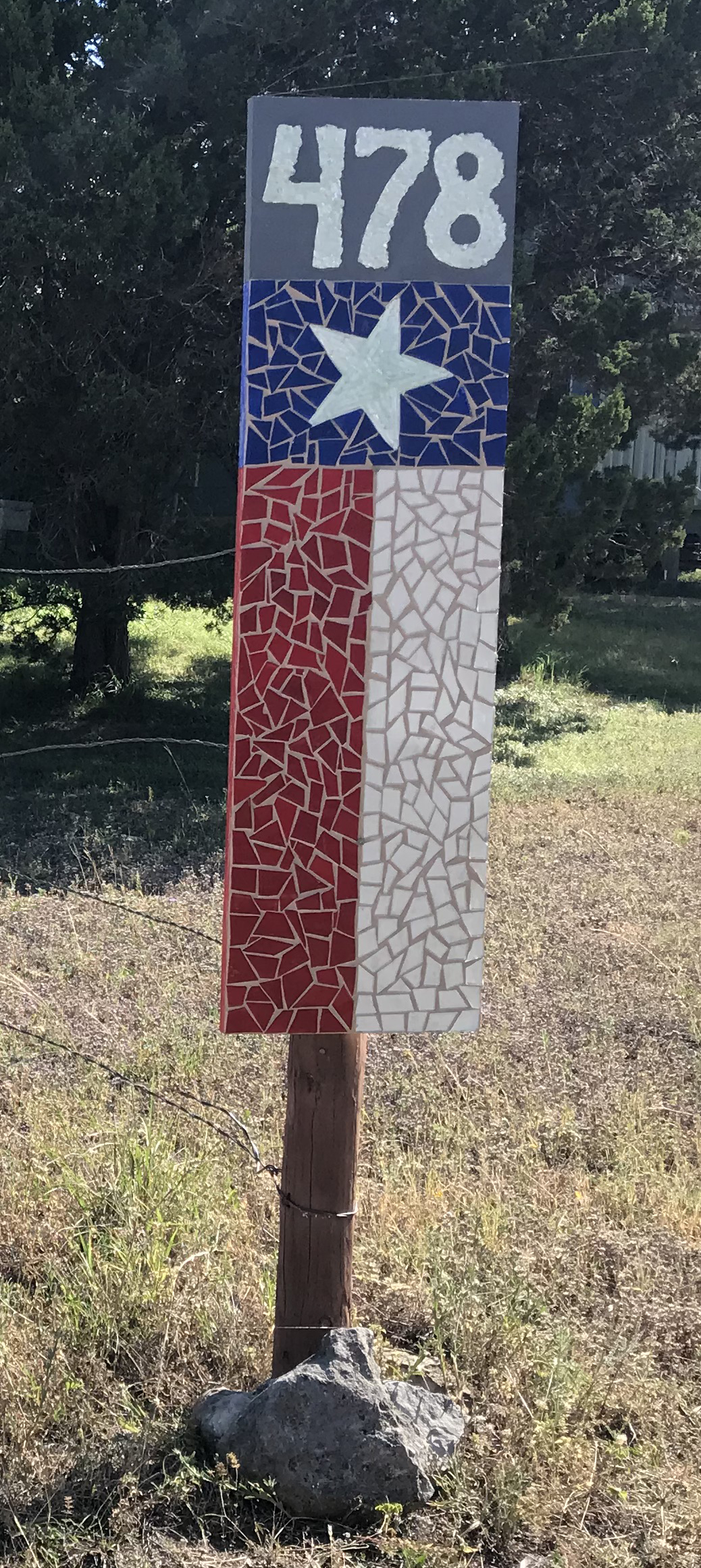 House Number TX Flag themed