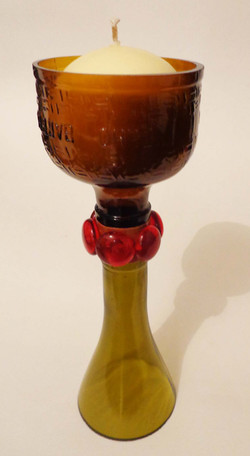 cachaça candle holder