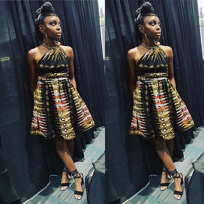 Adaobi Short wrap dress