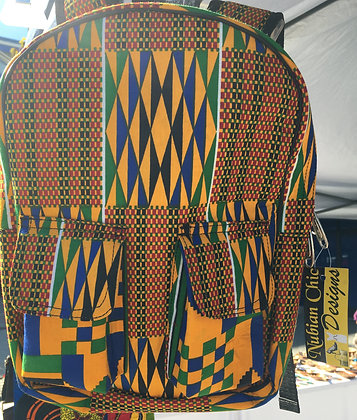 Toyin's mini Kente backpack