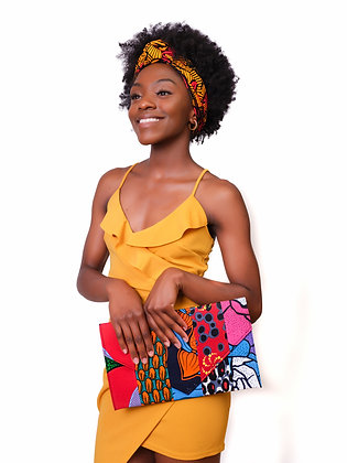 Iyala headwrap and evelope clutch
