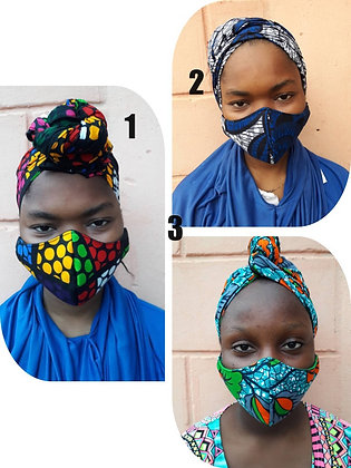 Coco headwrap mask set