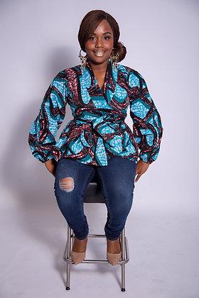 Chioma peplum blouse/jacket