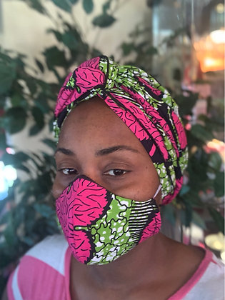 headwrap/ face mask set