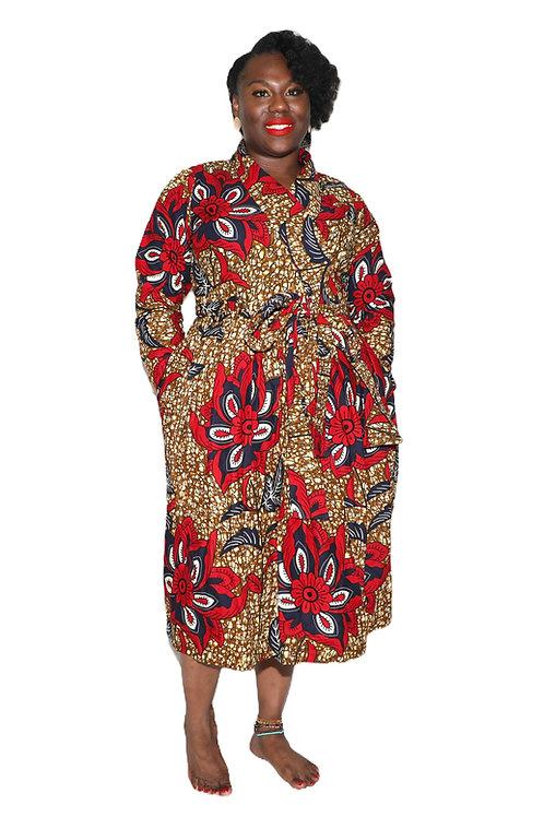 YETUNDE long sleeve wrap dress