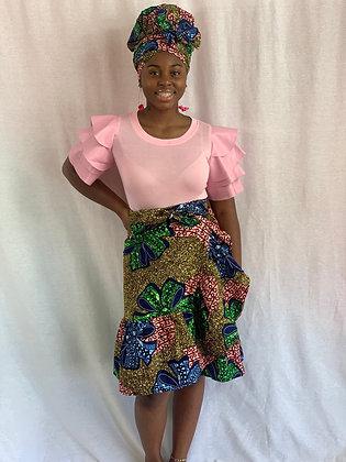Owo wrap skirt