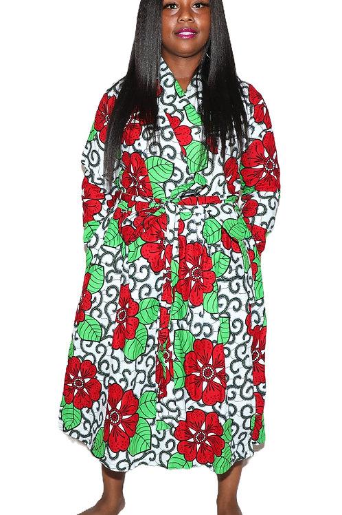 YEWANDE long sleeve wrap dress
