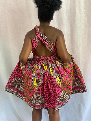 Nneka Short wrap dress