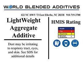 Lightweight aggregate cement additives