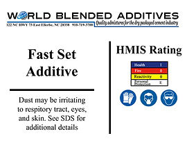 fast set cement additives
