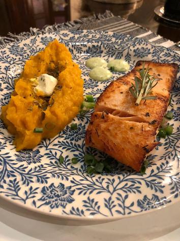 Salmon and Pumpkin