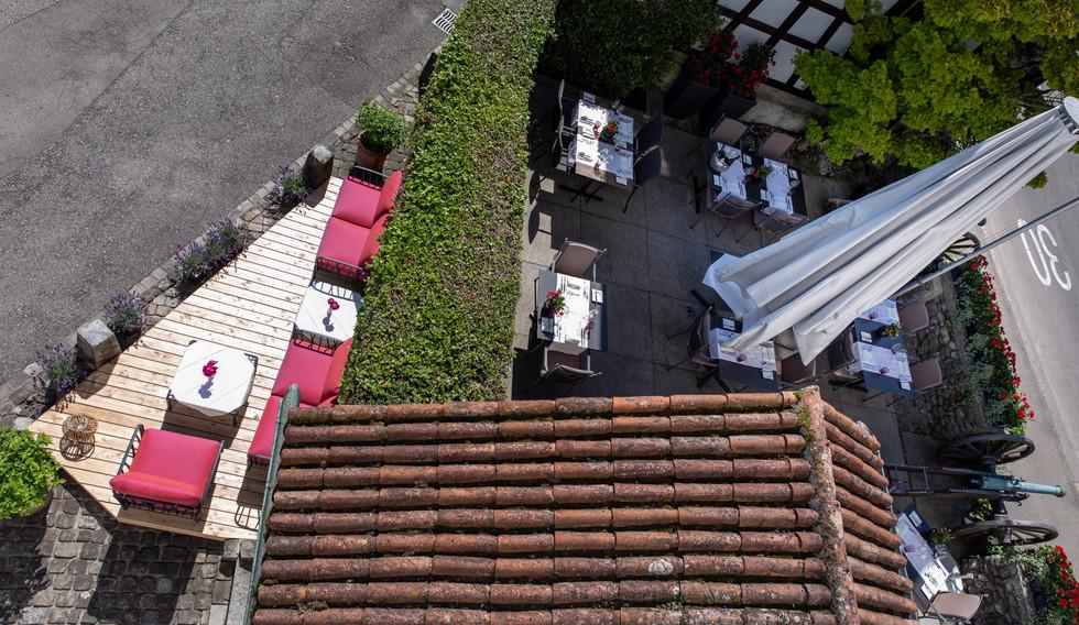 Terrasse von Oben