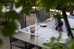 Eingedeckter Tisch Terrasse