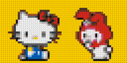 Hello Kitty and friend in Lego